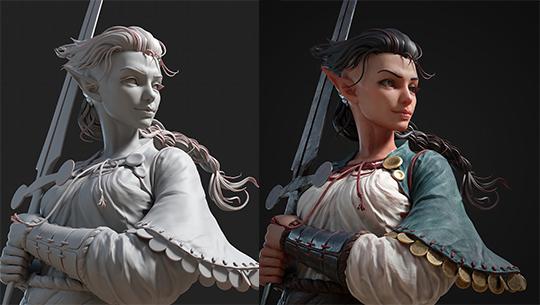 3D 게임 디자이너에게 배우는 Zbrush 2020 활용