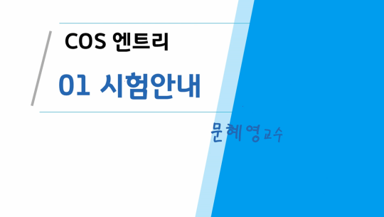 COS(Coding Specialist) 자격증 따기 (YBM시행) 4급 따기 - 엔트리
